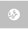 Happy face computer symbol vector image