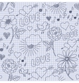 Hand-drawn funny seamless pattern vector image