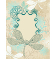 card with dragonfly vector image