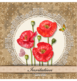 invitation poppy vector image vector image