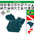 map of para brazil vector image