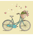 Vintage bicycle with flowers vector image vector image