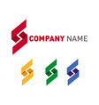 shape letters logos set in variety of colors vector image