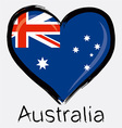 love Australia flag vector image