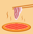 Meat grill vector image