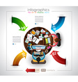 Infographic template with flat UI icons for ttem vector image vector image