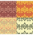 Set of Seamless with abstract colorful floral vector image