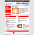 web design template set vector image vector image