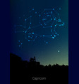 capricorn zodiac constellations sign with forest vector image