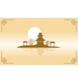 Chinese of pavilion scenery silhouette vector image