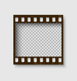 frame of 35 mm filmstrip empty blanck photo vector image