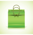 Green paper shopping bag vector image