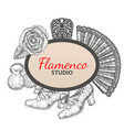 hand drawn flamenco template vector image