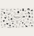 simple hand drawn elements and doodles vector image