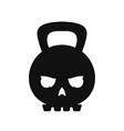 skull weight kettlebell modern style vector image