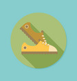 sneakers flat icon with long shadow eps10 vector image