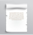 White sheet of papyrus vector image
