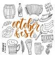 Beer October Fest doodle icons set beer vector image
