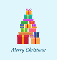 Merry Christmas card with Gifts vector image