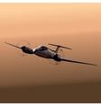 Civil utility aircraft vector image