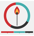 Fire infographic vector image