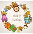 Back to school background with education elements vector image