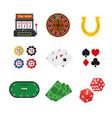 cartoon casino set vector image