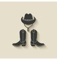 cowboy hat boots icon vector image