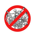 do not sin stop sinners dangers red sign dead vector image