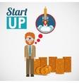 financial start up design vector image