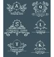 Set ornamental company logos vector image