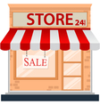 Store icon isolated on white vector image