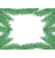 Frame of fir branches vector image vector image