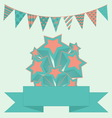 Party bunting background with stars and banner vector image
