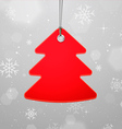 Christmas with Hanging Tree vector image