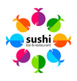 sushi bar restaurant vector image vector image