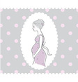 Background with hand drawn pregnant woman vector image