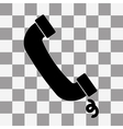 call Icon on a transparent vector image