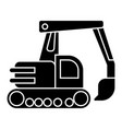 excavator icon black sign on vector image