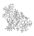 Flower design element Drawing flowers vector image