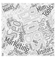 MLM Marketing and Recruiting Pointers Word Cloud vector image