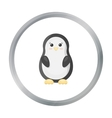 Penguin cartoon icon for web and vector image