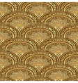 Vintage seamless pattern brown-gold vector image