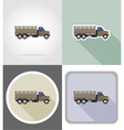 truck flat icons 08 vector image