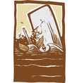 Whaling Trouble Color vector image vector image
