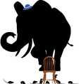 Scared elephant vector image