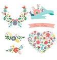 Beautiful collection of floral elements vector image