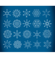 decorative snowflakes vector image vector image