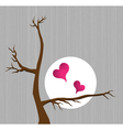 hearts with tree vector image