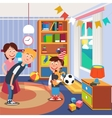 Parents Give Her Son a Dog for his Birthday vector image